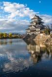 Matsumoto castle, national treasure of Japan Stock Image