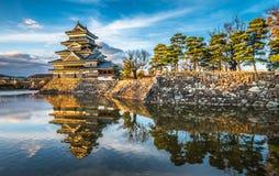 Matsumoto castle, national treasure of Japan.  Royalty Free Stock Photos