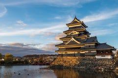 Matsumoto castle, national treasure of Japan.  Stock Image