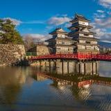 Matsumoto castle, national treasure of Japan.  Royalty Free Stock Photography