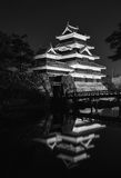 Matsumoto castle at night Japan. Matsumoto castle from the distance royalty free stock image