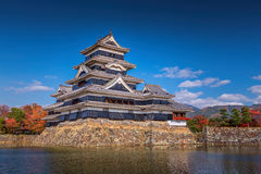 Matsumoto Castle is one of the most complete and beautiful among Stock Image