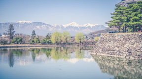 Matsumoto Castle is one of the most complete and beautiful among Royalty Free Stock Photography