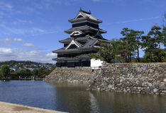 Matsumoto Castle. Matsumoto is one of relatively few original castles in Japan, most having been lost to fire Stock Images