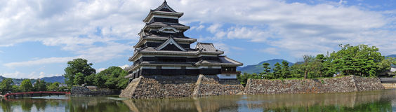 Matsumoto castle panorama Stock Photo