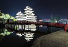 Matsumoto castle with the reflection in the water Royalty Free Stock Photography