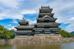 Matsumoto castle on sunny day. Famous Japanese castle and tourist attraction Royalty Free Stock Photography