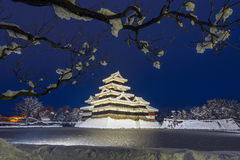 Matsumoto castle in Winter Royalty Free Stock Image