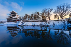 Matsumoto castle in Winter Royalty Free Stock Photos