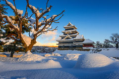 Matsumoto castle in Winter Stock Image