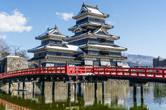 Matsumoto castle in winter Royalty Free Stock Photo