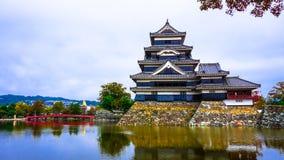 Matsumoto gammal slott i Nagano Arkivfoton