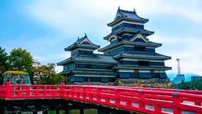 Matsumoto gammal slott i Nagano Arkivbild