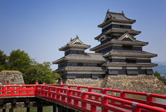 Matsumoto, Japan, a castle near Japanese Alps. Matsumoto castle near Japanese Alps Royalty Free Stock Photography