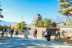 Matsumoto Japan - December 03, 2017: Matsumoto slott Matsumoto Arkivbild