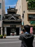 Matsumoto, Japan - May 16, 2017 : Seikando, the secondhand books stock photos