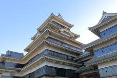 Matsumoto japansk slott Nagano Japan Royaltyfria Bilder