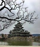 Matsumoto kasztel w Japońskim mieście Matsumoto Zdjęcia Royalty Free
