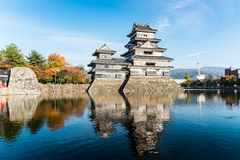Matsumoto kasztel w jesieni Obrazy Royalty Free