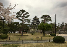 Matsumoto kasztel w parku narodowym Matsumoto Obrazy Royalty Free