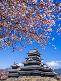 Matsumoto kasztel w wiosna sezonie, Nagano, Japonia Fotografia Stock
