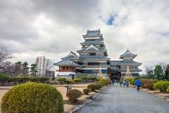 Matsumoto-Schloss ist eines Japans erste historische Schlösser Lizenzfreies Stockbild
