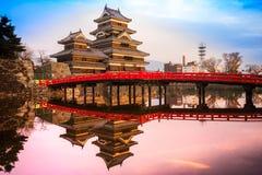 Matsumoto-Schloss, Japan lizenzfreie stockfotos
