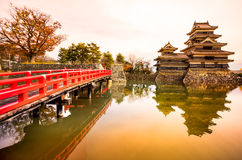 Matsumoto-Schloss, Japan Stockfotos