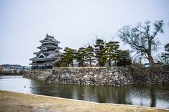 Matsumoto-Schloss in Japan Stockfotos