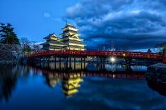 Matsumoto-Schloss, Nagano, Japan stockfotografie