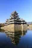 Matsumoto-Schloss, Südwestansicht. Lizenzfreie Stockfotos