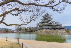 Matsumoto slott eller galandeslott Fotografering för Bildbyråer