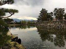Matsumoto slott i den Matsumoto staden i Japan Fotografering för Bildbyråer