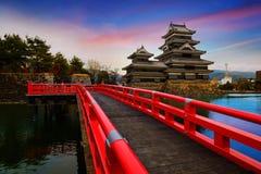 Matsumoto slott i den Matsumoto staden, Nagano Royaltyfria Bilder