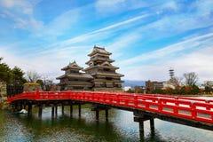 Matsumoto slott i den Matsumoto staden, Nagano, Japan Royaltyfri Foto