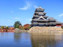 Matsumoto slott i Japan Arkivfoto
