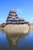 Matsumoto slott i Japan Arkivbild