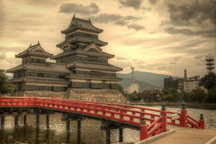 Matsumoto slott i Matsumoto, Japan Arkivbilder
