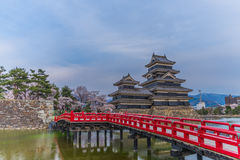 Matsumoto slott, Japan Royaltyfria Bilder
