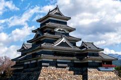 Matsumoto slott, Nagano, Japan Arkivbild