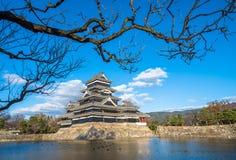 Matsumoto slott, nationell skatt av Japan Fotografering för Bildbyråer