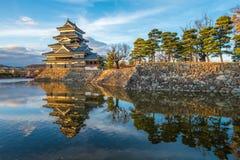 Matsumoto slott, nationell skatt av Japan Arkivbild