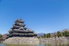 Matsumoto slott och vallgrav Arkivfoton