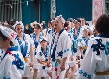 Matsuri de Tenjin, Osaka Photos stock