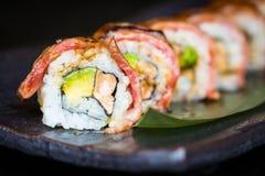 Matsusaka和wagyu牛肉寿司 库存图片