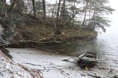 Matsushima łódź Fotografia Royalty Free