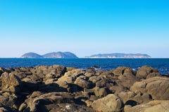 Matsushima en Kakarashima van Kaap Hado, Karatsu, Saga, Japan royalty-vrije stock foto