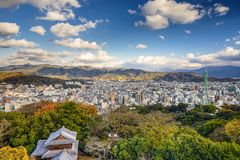 Matsuyama, Japan cityscape Stock Photo