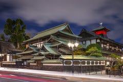 Matsuyama Japan at Dogo Onsen at night. Matsuyama, Japan at Dogo Onsen Royalty Free Stock Image