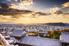 Matsuyama, Japan Skyline. Matsuyama, Japan viewed from the castle Stock Photo